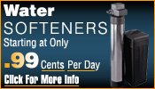 Water softeners starting at .99 cents per day