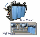 Compact floor or wall mounted water softener