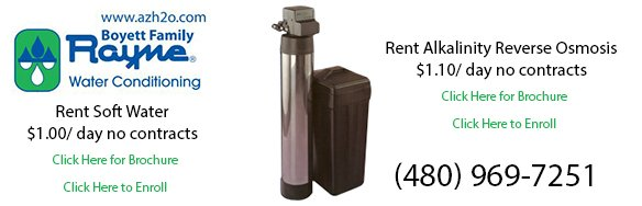 Rent a Reverse Osmosis or Water Softener