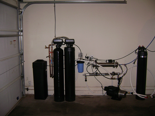 this whole house reverse osmosis process begins with our dynamic duel whole house carbon filter and water softener product
